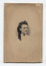 CIVIL WAR ERA CDV TAX STAMP. WOMAN LONG RINGLET CURLS. ID. ELDRIDGE, 1861.