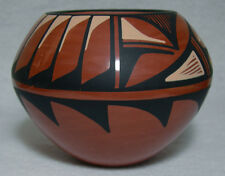"Hand coiled Jemez pottery by Loretto Tosa. 3 1/4"" diameter"