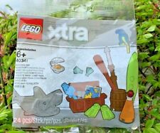 Lego Xtra Sea Accessories (40341) New Polybags 24pc Ocean Fish Clam PARROT
