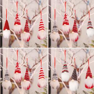 4X Christmas Gnomes Plush Santa Doll Xmas Gonk Dwarf Elf Decoration Ornaments