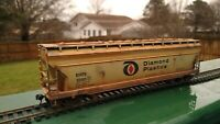 HO Scale Diamond Plastics Covered Hopper #5250 - CUSTOM-WEATHERED! - Athearn