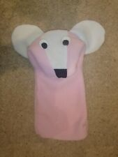 Replica of Rare Vintage Pink Mouse Puppet as seen in Baby Einstein