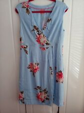 Joules Dress With Wrap Detail Size 16 Worn Once