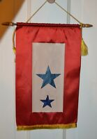 WWII Sons in service double blue star Mother's flag W/ Sons 1942 Service History