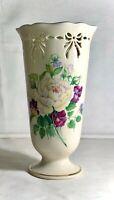 "Lenox Victorian Rose Collection 8 1/2"" Pierced Vase"