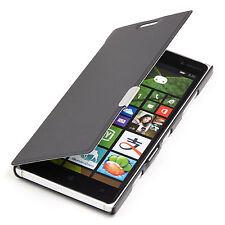 Microsoft Nokia Lumia 830 SLIM 2 FLIP CASE CUSTODIA ASTUCCIO NERO a9