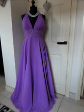 AVA'S BEAUTIFUL PURPLE VIOLET FULL LENGTH FLOATY BALLGOWN, PROM, PRINCESS DRESS