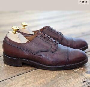 CROCKETT & JONES Oxblood 'Veldt' Field Shoe Size UK8.5 Grain Leather Veldtschoen