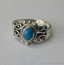 ESTATE QUALITY TURQUOISE .925 STERLING SILVER RING