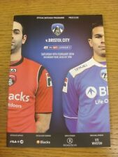 08/02/2014 Oldham Athletic v Bristol City  . Bobfrankandelvis (aka Footy Progs)