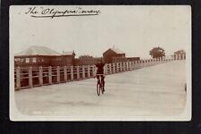 "Carmarthen - Dare Devil ""Schrever"", The Olympia Man - real photographic postcard"