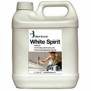 Bird Brand White Spirit Stain Remover Cleaning Agent Thinner Painting Brushes 4L