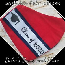 Red.Adult regular.Class of 2020. Washable Fabric Mask with pocket