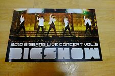 Big Bang - 2010 Big Show Live Concert Album *Official POSTER* KPOP Folded Poster