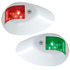 PERKO LED SIDE LIGHTS 12V RED / GREEN W/ WHITE HOU
