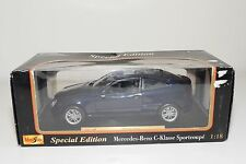@ 1/18 MAISTO MERCEDES BENZ C-CLASS SPORTCOUPE METALLIC BLUE MINT BOXED