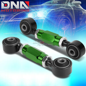FOR 88-00 CIVIC/CRX/DEL SOL/DC GREEN ADJUSTABLE REAR LOWER TOE CONTROL ARM/BAR