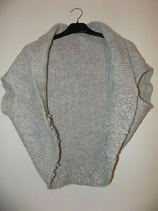 Per Una Grey Wool Blend Cardigan Shrug One Size Fits All Worn Once