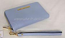 NWT Michael Kors Jet Set Large Multi-function Phone Wallet/Wristlet in Pale Blue