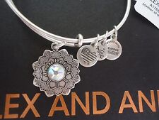 Alex and Ani MOTHER OF THE BRIDE Rafaelian Silver Bangle New W/ Tag Card & Box