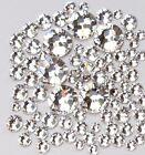 SS3-SS20 Crystal Clear Flatback Rhinestone Non Hotfix Nail Art Decoration DIY