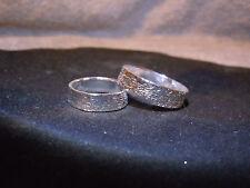 (WHY WEAR STERLING?) PURE SILVER 999 BULLION WEDDING BAND SET APM JEWELRY #E1978