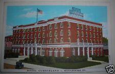 HOTEL CUMBERLAND MIDDLEBORO, KY  ca 1920 (?) POSTCARD