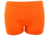 LADIES NEON STRETCHY HOT PANTS SEXY SHORTS CLUBWEAR DANCE GYM PARTY SIZE 8-14