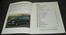 VW Bus T4 Transporter Caravelle  4 5 Zylinder  SSP 129  Stand 07/1990