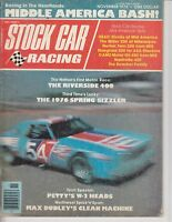 STOCK CAR RACING Magazine November 1976 Middle America Riverside 400 /b8