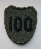 USA Army 100th Infantry Division Shoulder Patch.