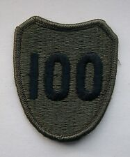 USA Army 100th Infantry Division Shoulder Patch. United States Army .
