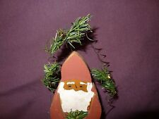 """Wooden Santa Claus Figurine Table Top Christmas Holiday 8"""" Country Rustic"""