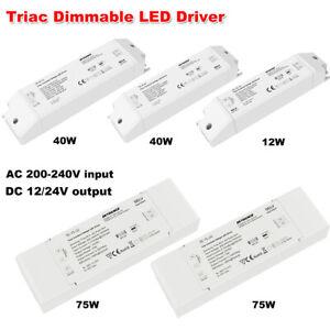 Constant Voltage 12V/24V DC Triac Dimmable LED Driver Transformer Power Supply