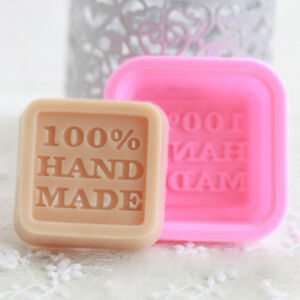 5 pcs 100% Handmade Square Soap Mold Silicone Ice Mould Tray Cake Craft DIY NEW