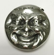 DAB David Bowles TWO-FACE MOON Sterling Silver MATCH SAFE Vesta Case 1988 London
