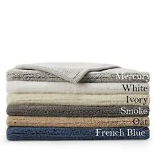 "LARGE Hudson Park Reversible Cotton Bath Rug Solid Dark Gray Smoke 27x48"" Mat"