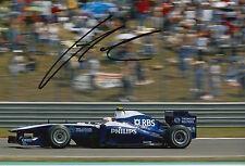 Nico Hulkenberg mano firmada fotografía 12x8 F1 AT&T Williams.