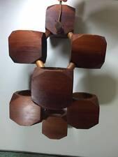 Vintage handmade wooden modular hanging planter made in Canada
