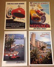 Monaco Grand Prix Postcard Set#6 Hard To Find! 1st On eBay Car Poster. Own It!