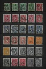 CHILE fine collection of used 1878 rouletted issues (30)