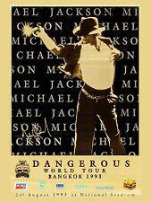 "Michael Jackson Bankok 16"" x 12"" Photo Repro Concert Poster"