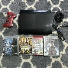 Sony PS3 Super Slim 12GB CECH-4201A Playstation 3 Console(TESTED, WORKS) BUNDLE