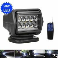 50W LED Remote Control Searchlight Offroad SUV Trucks ATV Boat Car Spotlight