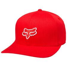 Fox Neuf pour Homme Héritage Flexfit Casquette - Rouge Foncé Neuf avec Étiquette