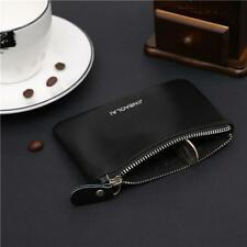 Black Coin Purse Credit Card Holder Genuine Leather Wallet