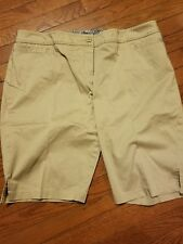 Claudia Ev Size 16 Beige Cotton Spandex blend Bermuda Shorts