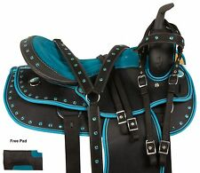GAITED 16 17 WESTERN PLEASURE TRAIL BARREL RACING SHOW HORSE SADDLE TACK PAD