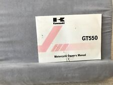 kawasaki GT550 Owners Manual