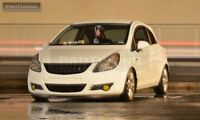 Front Debadged Black Plastic Grill For Opel Corsa D NO LOGO